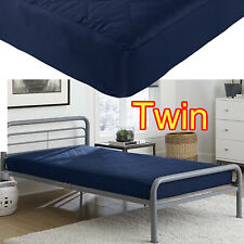 "6"" INCH QUILTED MATTRESS TWIN SIZE MEMORY FOAM HOME BEDROOM BED SLEEPING NAVY"