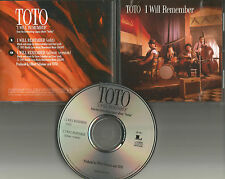TOTO I will Remember  w/ RARE EDIT PROMO radio DJ CD single 1995 USA