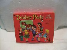 Vintage Donkey Party Game With 24 Tails & Instructions For 25 Other Games  gm145