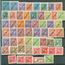Austria Overprint DEUTSCHERREICH Group of 52 MH stamp Lot#5303
