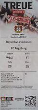 TICKET BL 2016/17 Bayer 04 Leverkusen - FC Augsburg