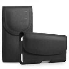 2x for XL LARGE Phones - BLACK Pouch Holder Belt Clip Holster Carrying Case