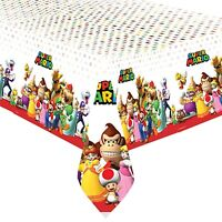 SUPER MARIO PLASTIC TABLECOVER BIRTHDAY PARTY SUPPLIES TABLECLOTH