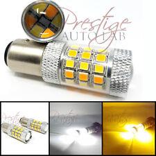 2x 1157 Dual Color Switchback 5630 5000K White/Amber LED Turn Signal Light Bulbs