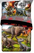 Jurassic World Dinosaur Erupt Twin Comforter Sheets Sham (5 Piece Bed In A Bag)