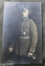 Original sanke aviateur photo AK 372 lieutenant leffers-tourné 1916 Aachen