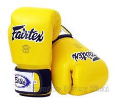 Fairtex BGV1 Yellow  Muay Thai Boxing Gloves MMA Training Sparring 10 12 14 16