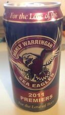 *****2011 PREMIERS BEER CAN***** - MANLY WARRINGAH SEA EAGLES - LIMITED EDITION