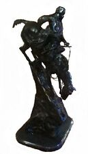 """""""Mountain Man,"""" by Frederic Remington, Hand Cast Bronze on Bevelled Marble Base"""