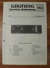 Dispositivo musicale sono-clock 120 Grundig Service Manual Istruzioni di servizio