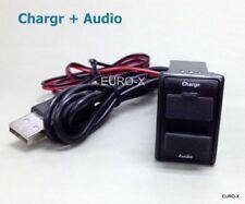 CAR USB Port Charger Smart Phone PDA DVR iPhone + Audio Input for MAZDA #EWgtn