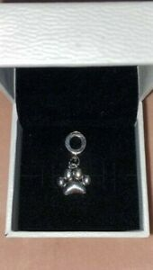 DOG PAW Silver Dangle Charm With Pandora Pouch