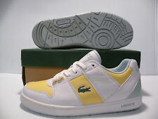LACOSTE THRILL LEATHER SPORT SNEAKERS WOMEN SHOES WHITE 13SPW2189-F10 SIZE 9 NEW