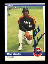 Mike Madden Autographed Signed 1984 Fleer Astros