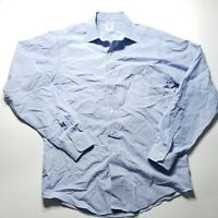 Brooks Brothers Non Iron 100% Cotton Dress Button Shirt Blue Striped  Mens 16-36