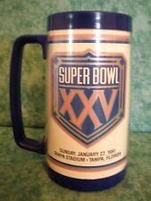 VINTAGE SUPER BOWL XXV~TAMPA STADIUM JANUARY 27,1991~NFL 1989~THERMAL TUMBLER
