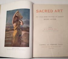 1903 Sacred Art: The Bible Story pictured by Eminent Painters A G Temple LEATHER