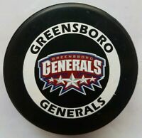 GREENSBORO GENERALS ECHL OFFICIAL GAME PUCK MADE IN CANADA LINDSAY MFG. HOCKEY