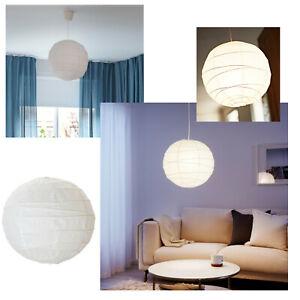 IKEA REGOLIT WHITE PAPER LAMPSHADE MINIMALIST BASIC ROUND BALL GLOBE DECORATION