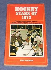 Vintage 1972 ~ Hockey Stars Of 1973 ~ Nhl Illustrated Photos ~ Stan Fischler