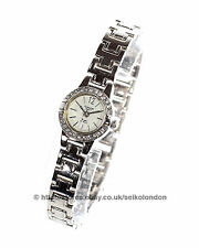 Omax Ladies Diamonte Watch, Silver Finish, Seiko (Japan) Movt. RRP £49.99