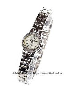 Omax Ladies Diamonte Watch, Silver Finish, Seiko (Japan) Movt. RRP £49.99