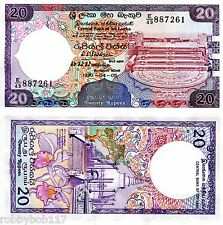 SRI LANKA 20 Rupee Banknote World Money Currency BILL New p97 1990 Note Asia