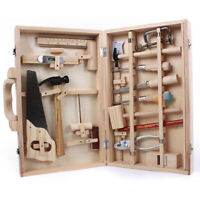 Junior Woodwork Carpentry Tool Box Wood Tools Wooden Child Kids Play Set