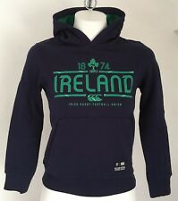 Irlanda Rugby Peacoat Blue OTH Felpa Con Cappuccio Da Canterbury Taglia Ragazzi 6 ANNI Nuovo di Zecca
