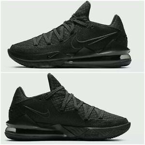 """🔥Nike LeBron 17 Low """"Triple Black"""" Black/Black size 11.5  CD5007-003"""