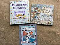 LOT 3 CHILDRENS KIDS EDUCATIONAL HARDCOVER BOOKS READ GRANDMA RAGGEDY ANN ANGELS