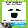 Pre Cut Window Tint - Renault Laguna Coupe 2008-2016 - 35% Light Rear