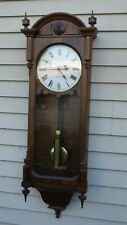 seth thomas weight driven large wall regulator clock good quality