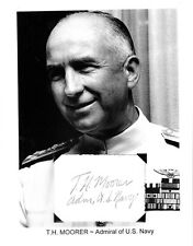 Thomas Hinman Moorer Autograph Admiral Chief Staff Navy Admiral Naval Aviator #1