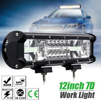 12inch 324W LED Combo Work Light Bar TRI-ROW For Jeep Offroad ATV 4WD 14/20""