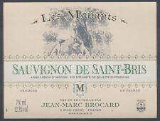 THEME ANIMAUX étiquette de vin SAUVIGNON DE SAINT-BRIS CHIEN DE CHASSE PORT OFF