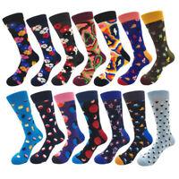 Brand New Quality Mens Happy Socks 14Colors Striped Plaid Diamond Cherry Socks
