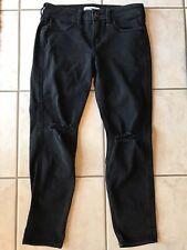 Girl's Abercrombie Size 14 Black Wash Distressed Skinny Slim Jeans