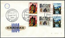 LUXEMBOURG 1964 National Welfare Fund FDC #C44912