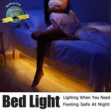Motion Activated Bed Light Sensor Night Strip Smart Lamp Flexible LED Body IR US