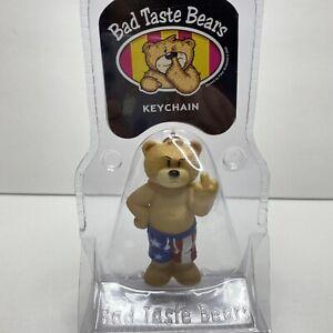 "Bad Taste Bears Keychain F'OFF Red White Blue American Flag Shorts 3"""