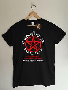 Slaughtered Lamb Darts Team T-shirt - Retro Horror American Werewolf London Tee