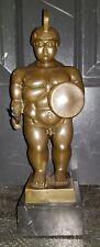 Warrior Art Sculpture Roman Soldier Nude Man Bronze Statue Botero - Signed Milo