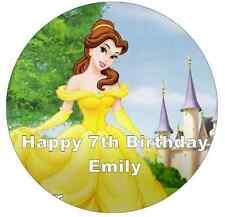 "Disney Princess Belle Personalised Cake Topper 7.5"" Edible Wafer Paper"