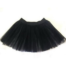 Women Black tutu skirt tulle Petticoat Dance Party Club Halloween Christmas Emo