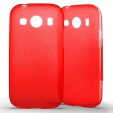 Housse Coque Etui Samsung Galaxy Ace 4 Silicone Gel Protection arrière- Rouge