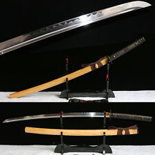 hand forged 1095 clay tempered japanese Katana samurai real hamon sword fulltang