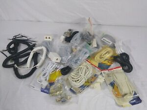 Lot of Line Cords Wall Jack's Door Hardware RCA General Electric Telephone Lot