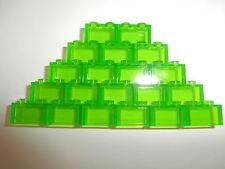 LEGO CLASSIQUE 20 TRANSPARENT pièces de construction 3065 vert clair 1X2