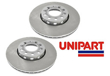 Audi - 100 A4 A6 1990-On 2x Front Brake Discs Pair Unipart